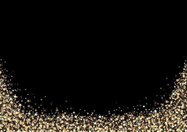 Schwarzer hintergrund mit goldfunkelnsternen