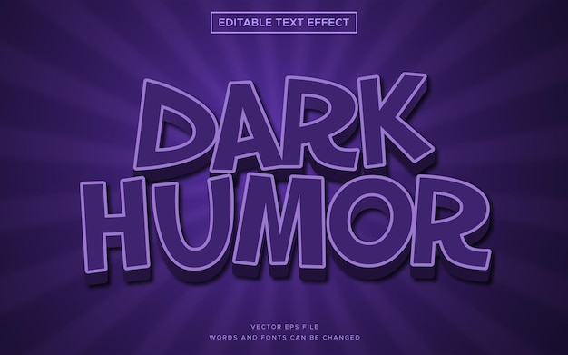 Schwarzer humor 3d-textstileffekt