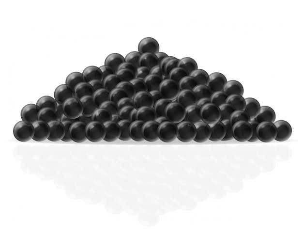 Schwarzer kaviar-vektor-illustration