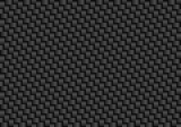 Schwarzer kohlefaser nahtlose hintergrund