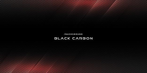 Schwarzer kohlenstoff-strukturierter hintergrund mit roter leuchte