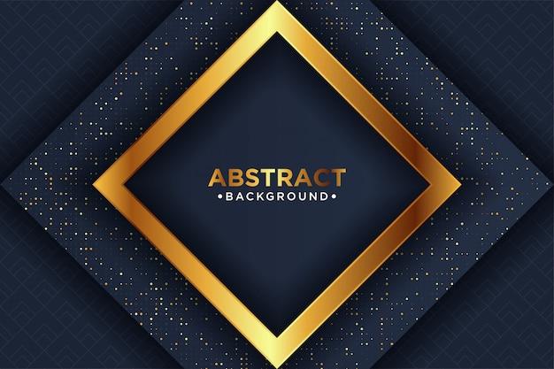 Schwarzer luxushintergrund mit glühenden goldenen punkten einer kombination mit art 3d.
