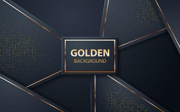 Schwarzer luxushintergrund mit goldenen funkeln