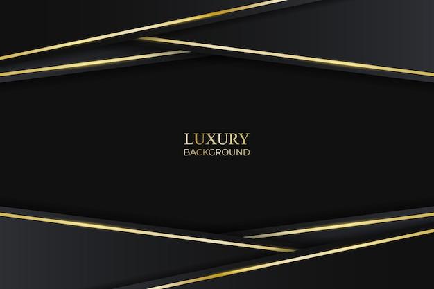 Schwarzer luxushintergrund mit goldener linie