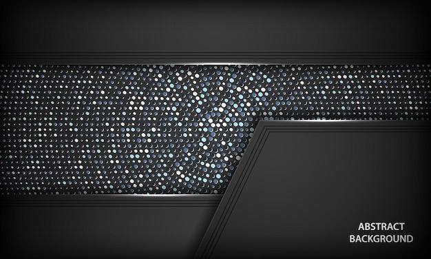 Schwarzer luxushintergrund mit silbernen dekorationen