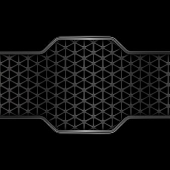 Schwarzer metallbeschaffenheitshintergrund. geometrisch. abstrakt