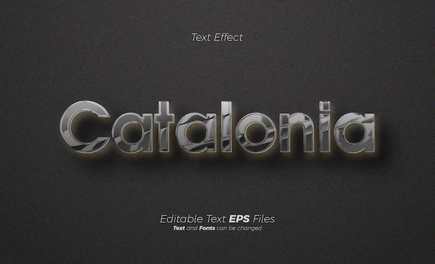 Schwarzer metallic-texteffekt elegant