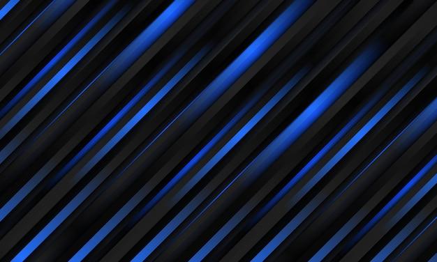 Schwarzer metallischer und dunkelblauer abstrakter luxusmetallic gestreifter hintergrund