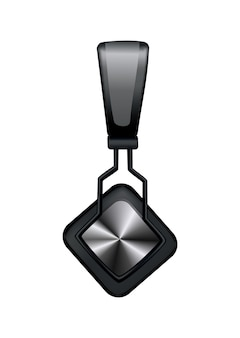 Schwarzer musikkopfhörer oder gaming-headset auf weiß