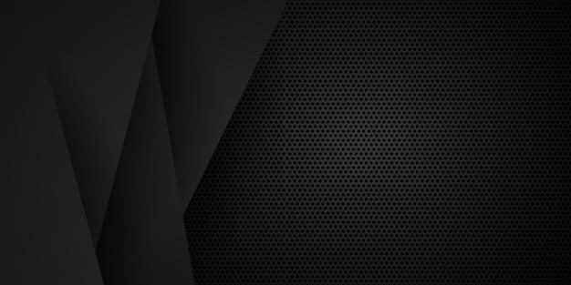 Schwarzer neutraler kohlenstoff abstrakter hintergrund moderner minimalist