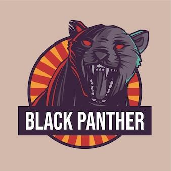 Schwarzer pantherillustration