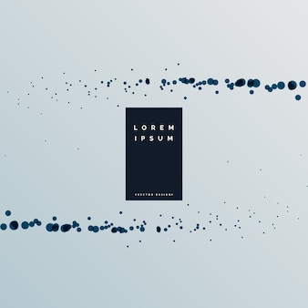 Schwarzer partikeleffekt auf grauem hintergrund