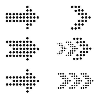Schwarzer pfeil-icon-set