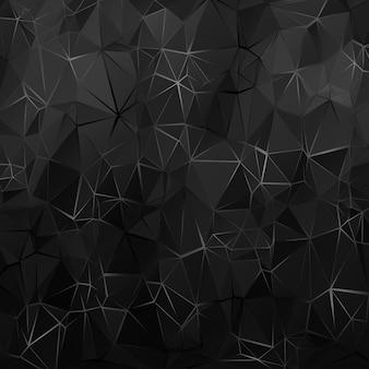 Schwarzer polygonaler hintergrund