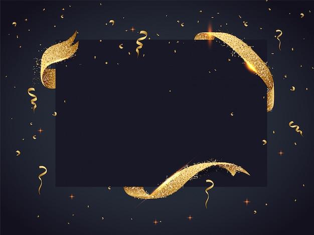Schwarzer rahmen dekoriert