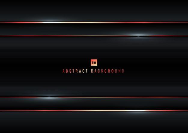 Schwarzer roter linienhintergrund der abstrakten streifen