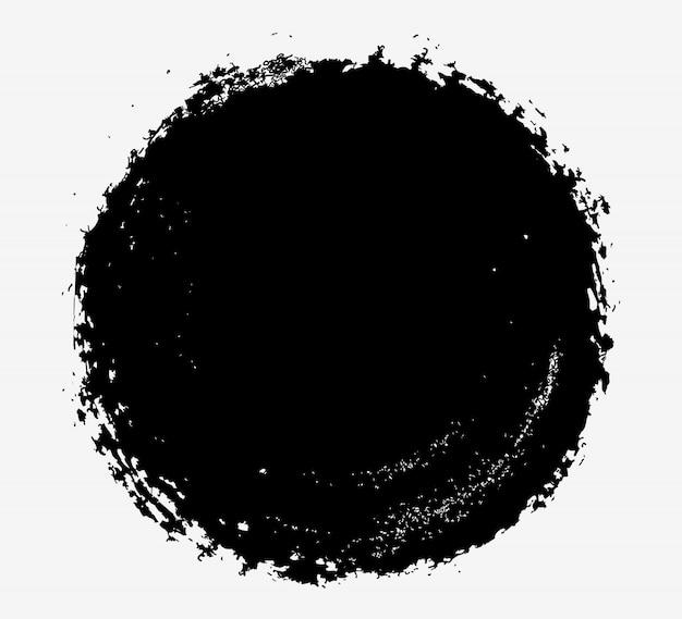 Schwarzer runder grunge-rahmen