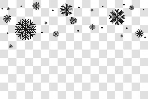 Schwarzer schnee isoliert. winter weihnachten. illustration