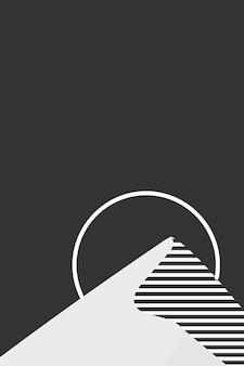 Schwarzer sonnenuntergangberghintergrundvektorästhetik