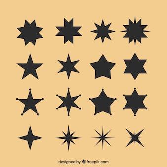 Schwarzer stern eingestellt