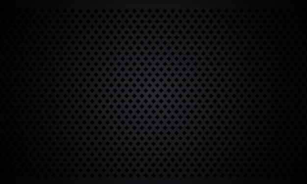Schwarzer strukturierter rautenhintergrund. schwarzer rhombentexturmetallstahlhintergrund. dunkle kohlefaser-textur.
