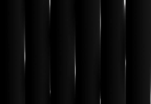 Schwarzer tech-entwurfsmusterhintergrund des abstrakten gradienten mit weißem effekt.