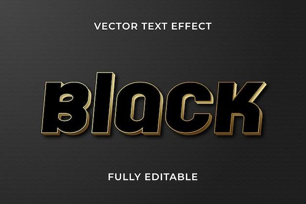 Schwarzer texteffekt