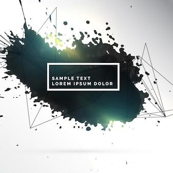 Schwarzer tinte fleck abstrakten hintergrund