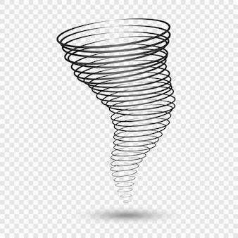 Schwarzer tornado