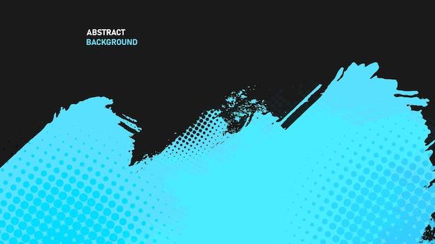 Schwarzer und blauer abstrakter grunge-textur-hintergrund