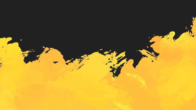 Schwarzer und gelber abstrakter grunge-hintergrund