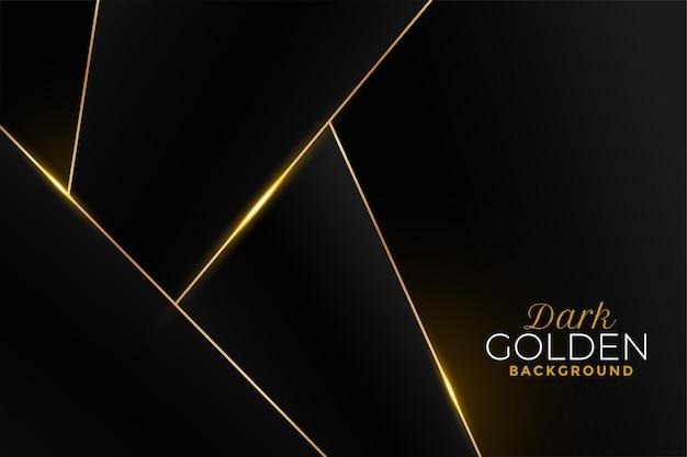 Schwarzer und goldener hintergrund im geometrischen stil
