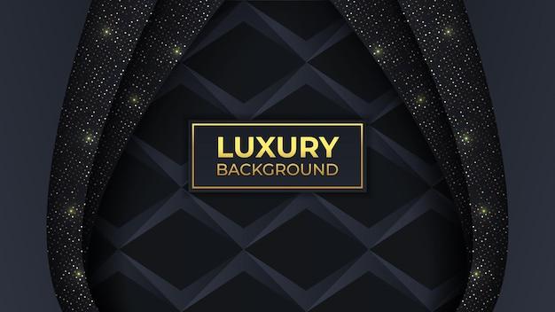 Schwarzer und goldener luxushintergrund in horizontalem bearbeitbarem vektorbild