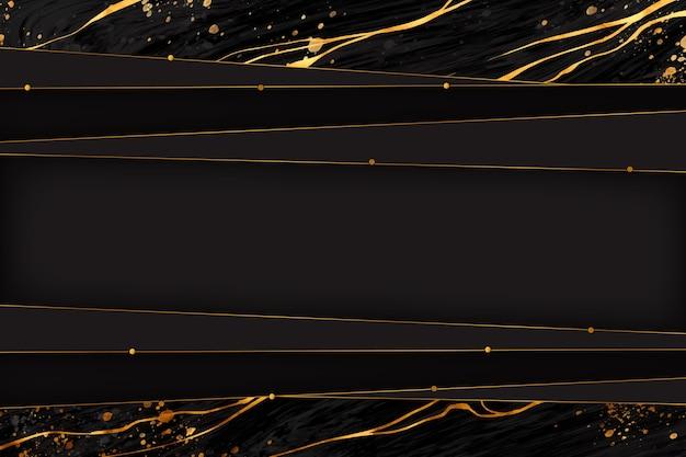 Schwarzer und goldener marmorhintergrund