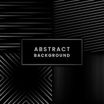 Schwarzer und grauer abstrakter hintergrundvektorsatz