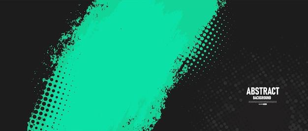 Schwarzer und grüner abstrakter grunge-textur-hintergrund