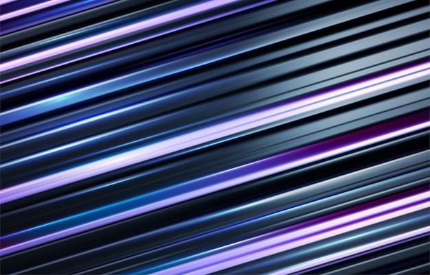 Schwarzer und holographischer blauer gestreifter 3d hintergrund