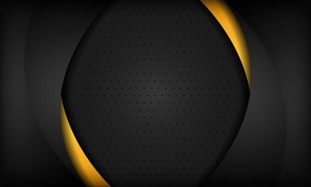 Schwarzer und orange unternehmenshintergrund. textur mit dunklem metallmuster.