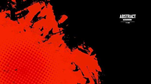 Schwarzer und roter abstrakter grunge-textur-hintergrund