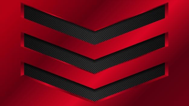 Schwarzer und roter metallhintergrund. abstrakte vektorillustration eps10