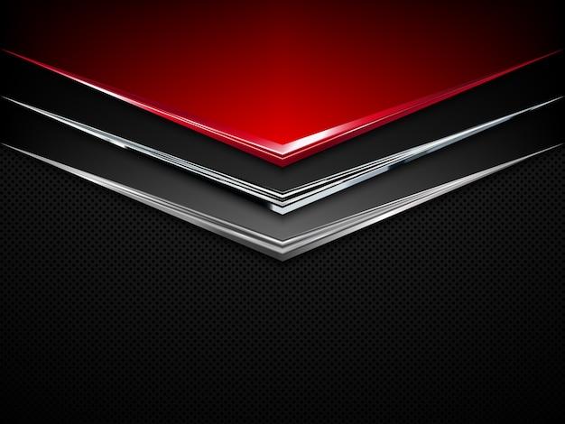 Schwarzer und roter metallhintergrund. abstrakter technologiehintergrund