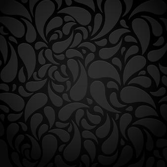 Schwarzer wasserform abstrakter musterhintergrund
