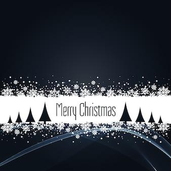Schwarzer weihnachtshintergrund mit schneeflocken
