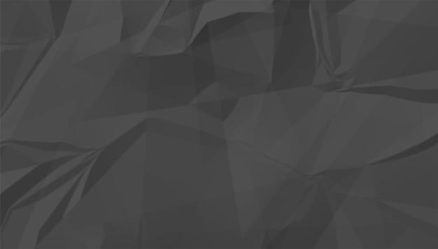Schwarzer zerknitterter leerer papierbeschaffenheitshintergrund