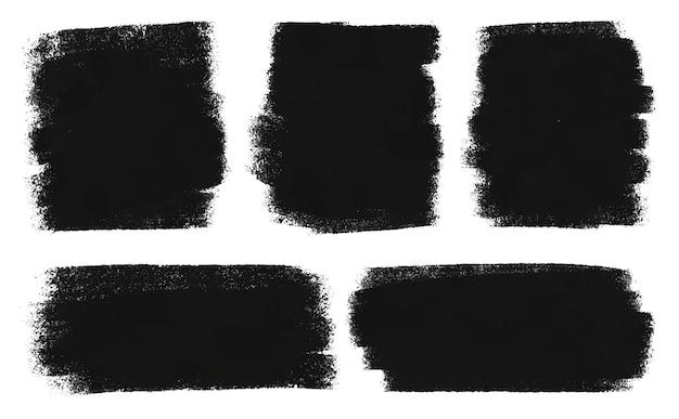Schwarzes aquarellpinsel-set