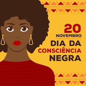 Schwarzes bewusstseinstag-thema