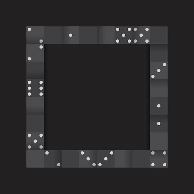 Schwarzes blockiert rahmen auf leerem schwarzem hintergrundvektor