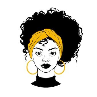 Schwarzes frauenporträt