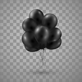 Schwarzes glänzendes ballon-bündel