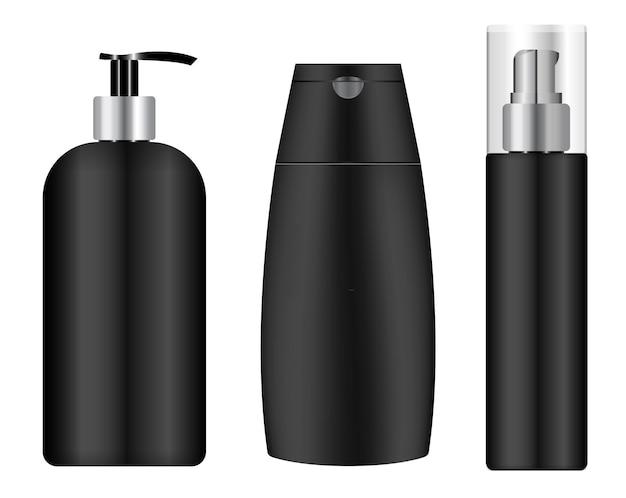 Schwarzes kosmetikglas
